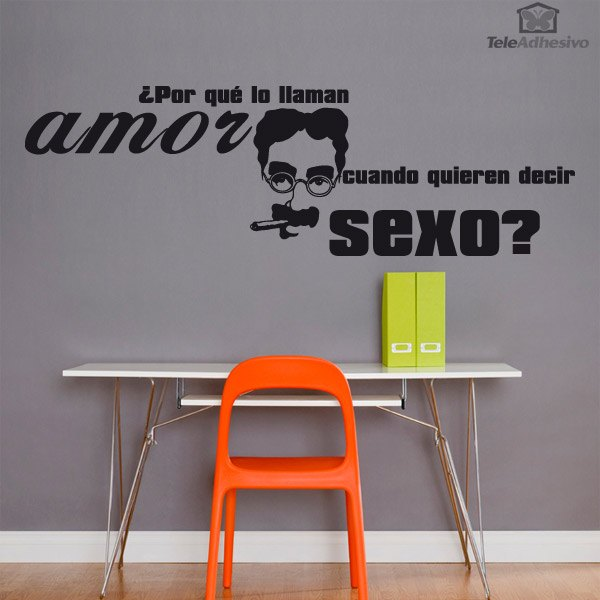 Wall Stickers: Amor Sexo - Groucho Marx