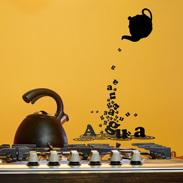 Wall Stickers: Teapot with water