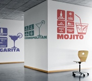 Wall Stickers: Cocktail Mojito 3