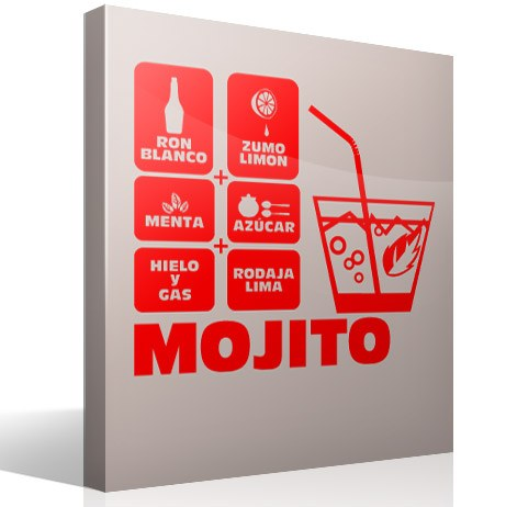 Wall Stickers: Cocktail Mojito