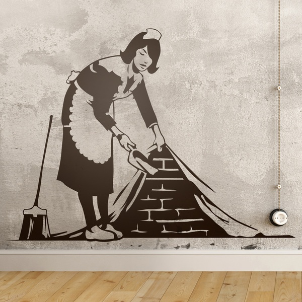 Wall Stickers: The cleaning lady