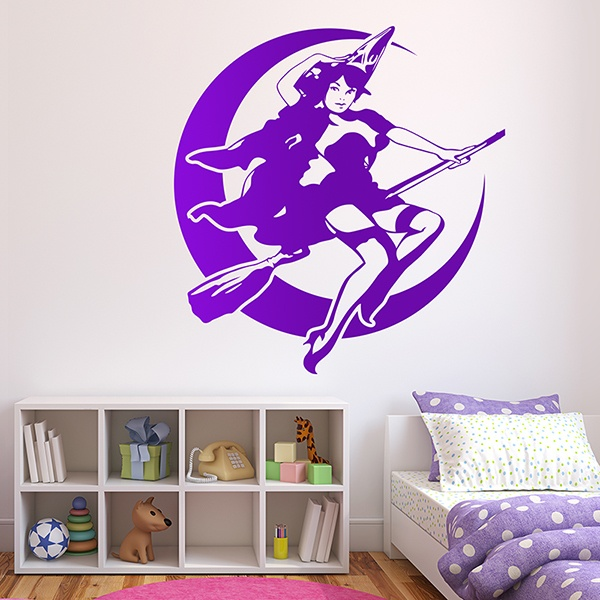 Wall Stickers: bruja pin up