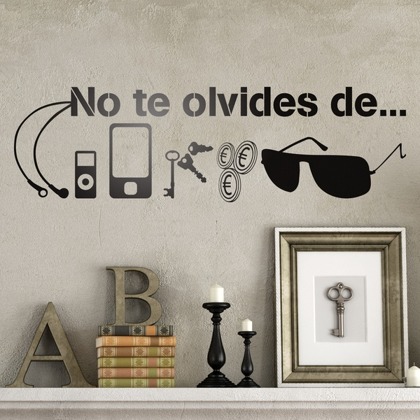 Wall Stickers: No te olvides de...