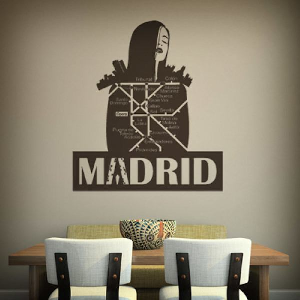Wall Stickers: Madrid