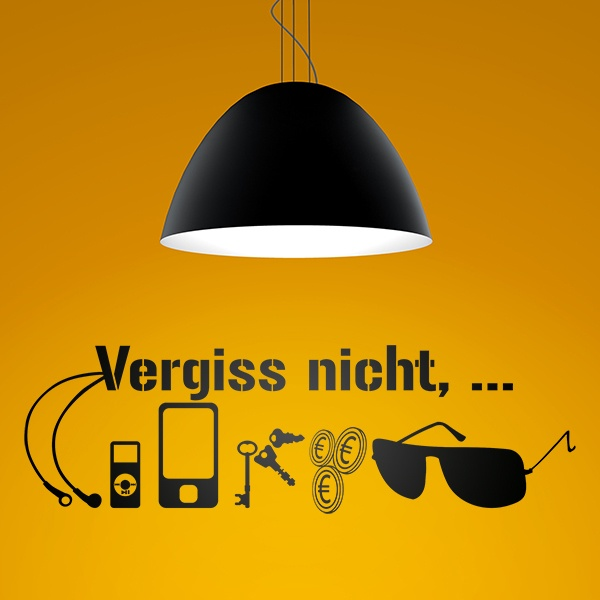 Wall Stickers: Vergiss nitch