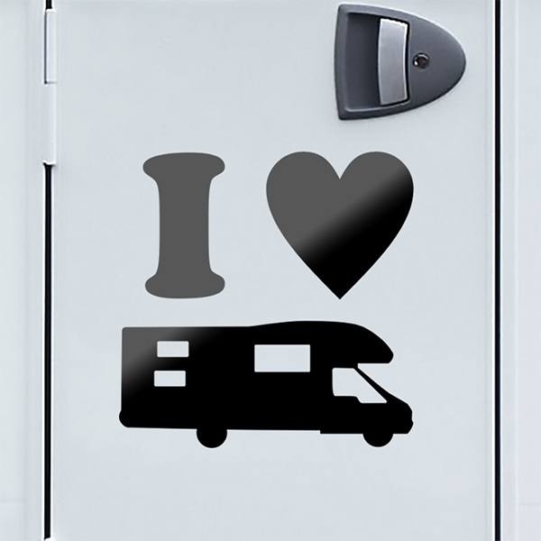 Car & Motorbike Stickers: I Love AC 01