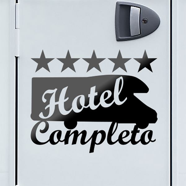 Car & Motorbike Stickers: Hotel Completo camping car