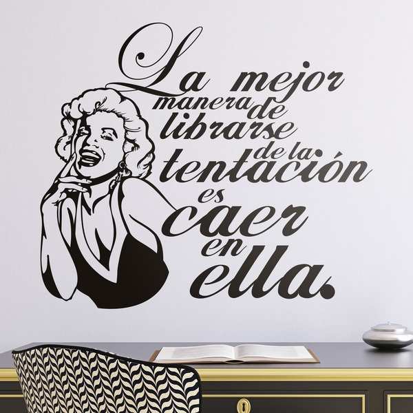 Wall Stickers: Monroe Tentation