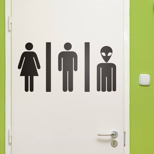 Wall Stickers: WC Mixto Alien