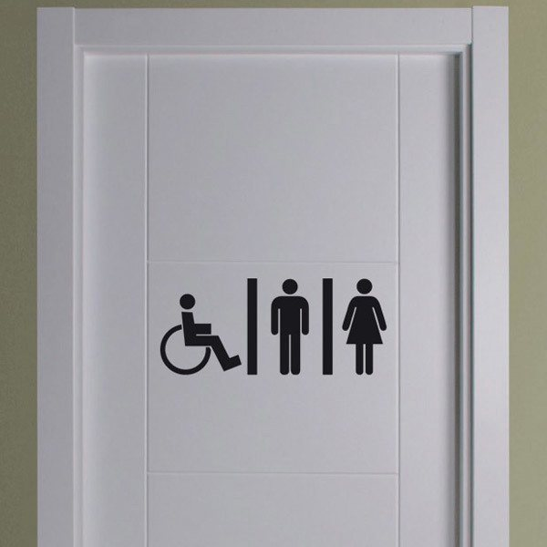 Wall Stickers: WC Mixto disabled people