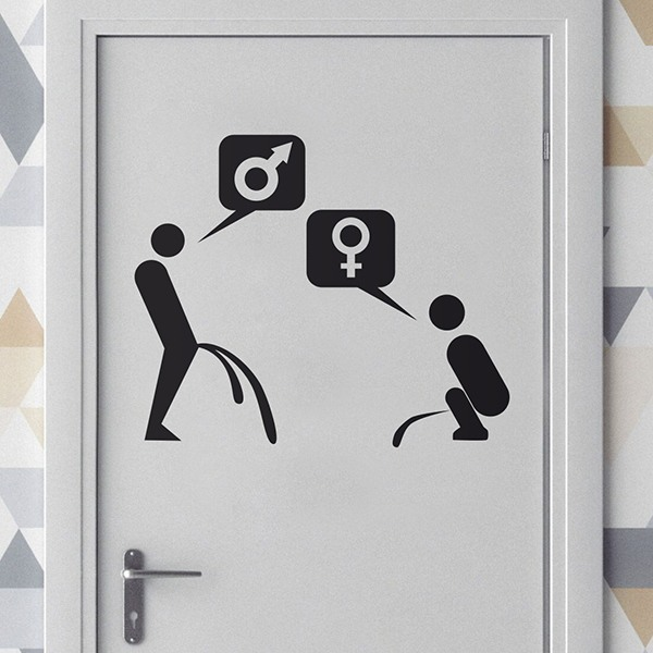 Wall Stickers: WC Mixto sex sign