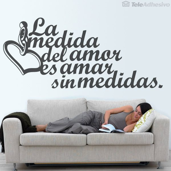 Wall Stickers: Amar sin medidas