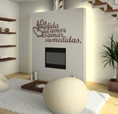 Wall Stickers: Amar sin medidas 3