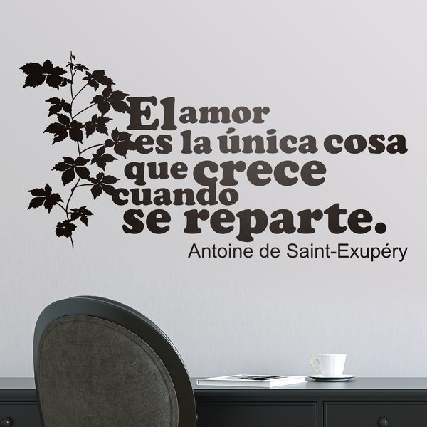 Wall Stickers: Amor Crece Exupery 0