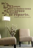 Wall Stickers: Amor Crece Exupery 3