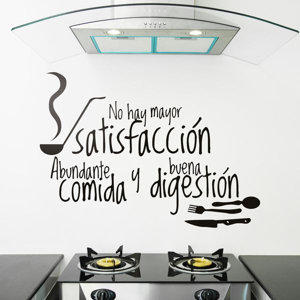 Kitchen wall sticker good digestion for Stickers decorativos de pared