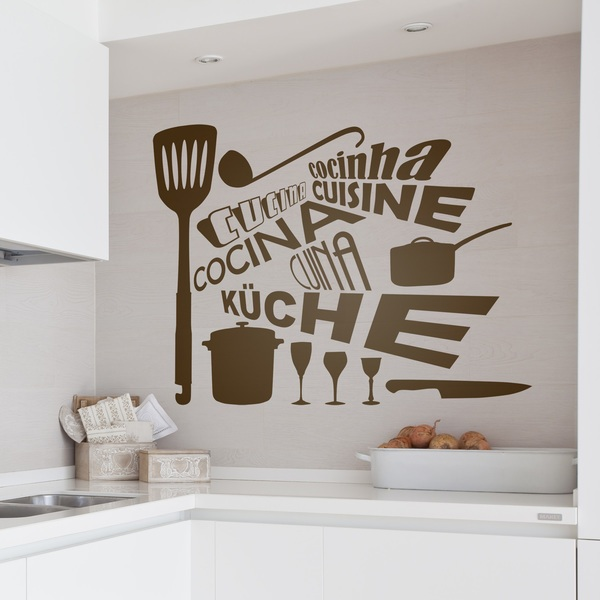 Wall Stickers: Kitchen in Languages