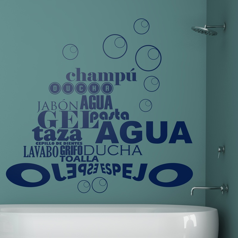Wall Stickers In The Bathroom
