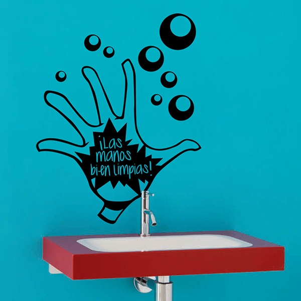 Wall Stickers: Manos Limpias