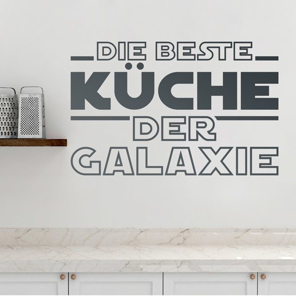 Wall Stickers: The Best Kitchen in the Galaxy in German
