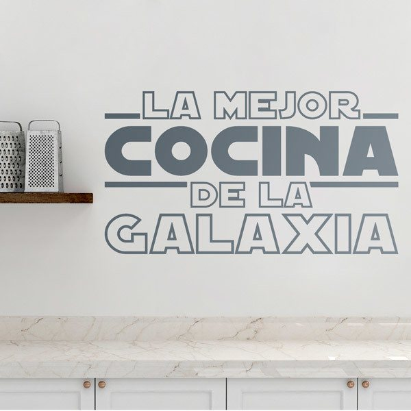 Wall Stickers: The Best Kitchen in the Galaxy in Spanish