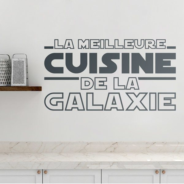 Wall Stickers: The Best Kitchen in the Galaxy in French