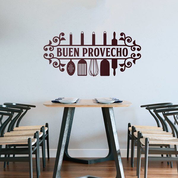 Wall Stickers: Bon Appetit in Spanish