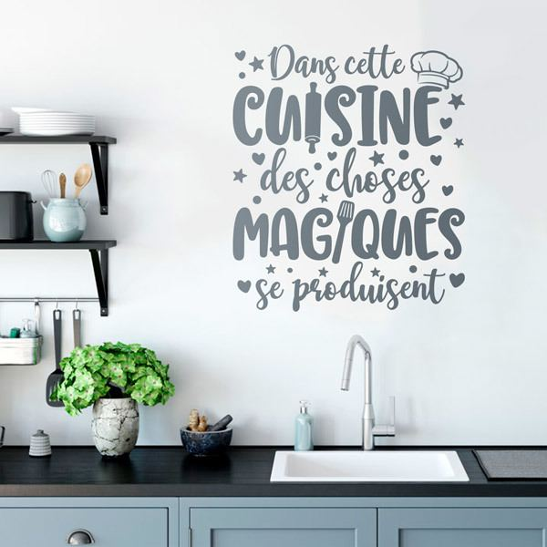 Wall Stickers: Magic Kitchen in French