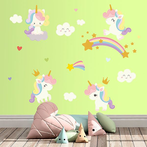 Wall Stickers: Fantasy Unicorn Kit