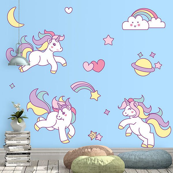 Wall Stickers: Unicorn Children