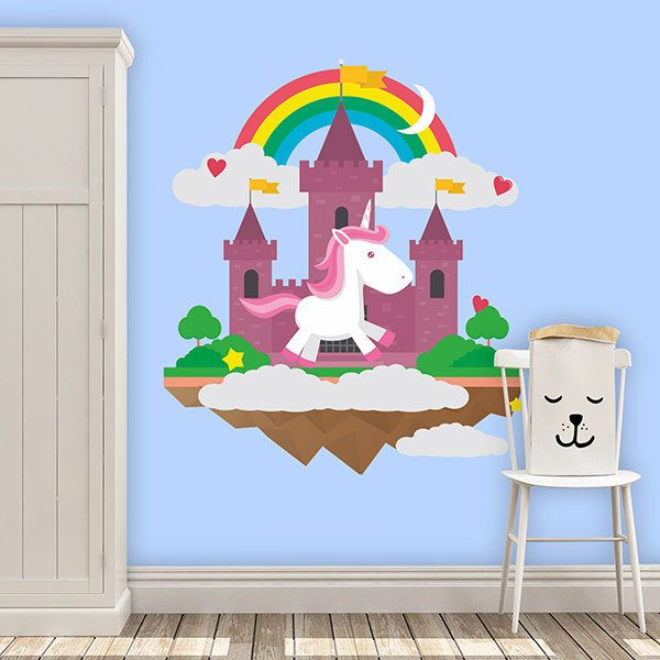 Wall Stickers: Unicorn in the castle