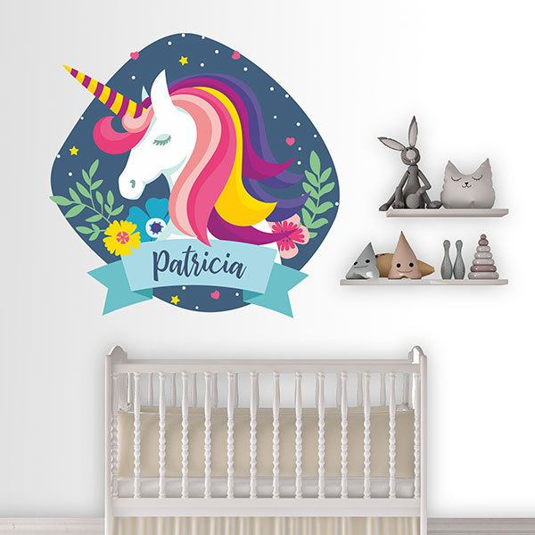 Wall Stickers: Unicorn with personalized name