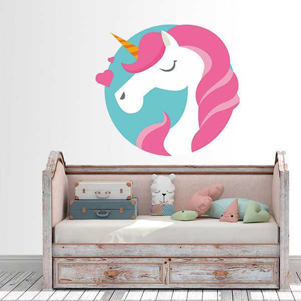 Wall Stickers: Unicorn in love