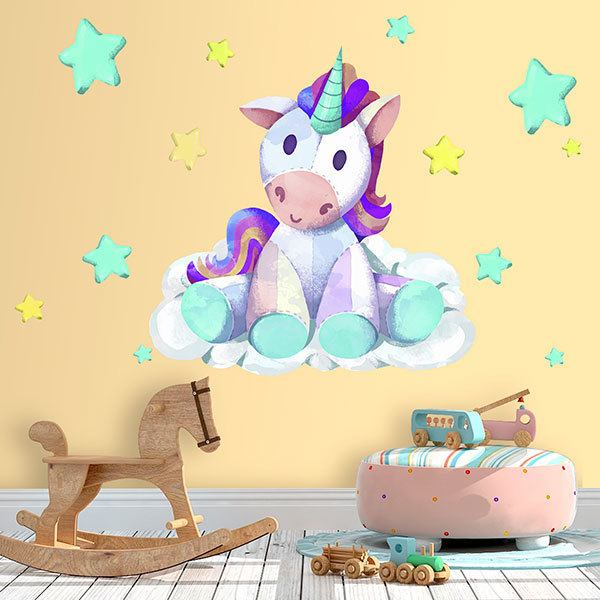 Wall Stickers: Unicorn stuffed animal