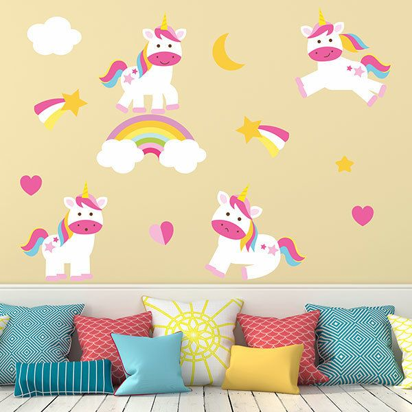 Wall Stickers: Playful Unicorn Kit