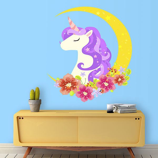 Wall Stickers: Unicorn on the moon