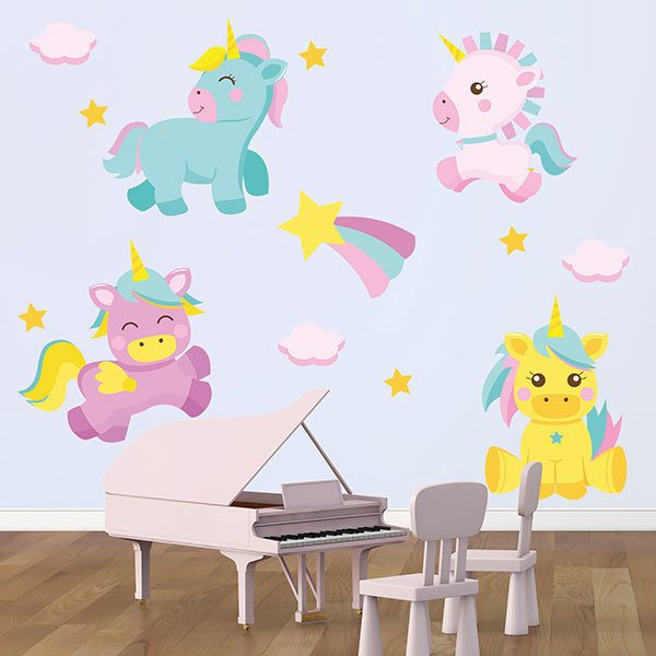 Wall Stickers: Unicorn colour kit