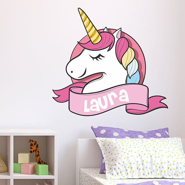 Wall Stickers: Unicorn with name