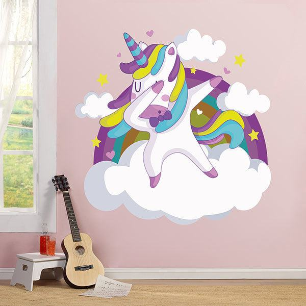 Wall Stickers: Unicorn dancing