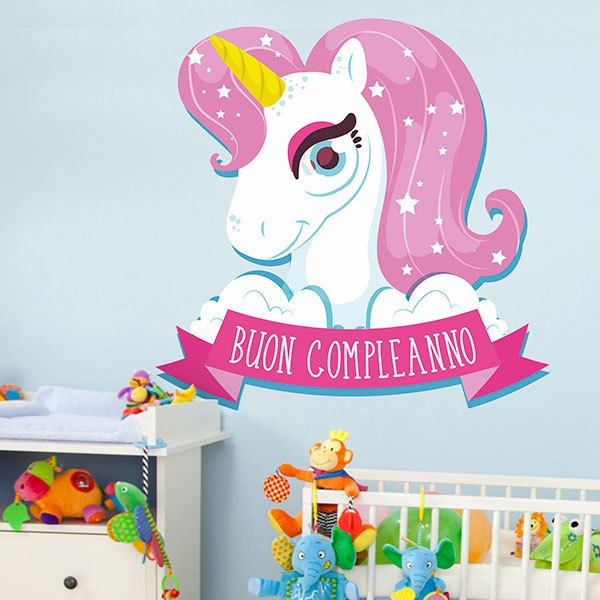 Wall Stickers: Happy Birthday in italian