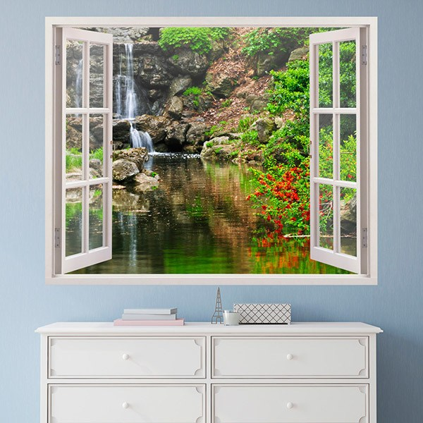 Wall Stickers: Lake and waterfall