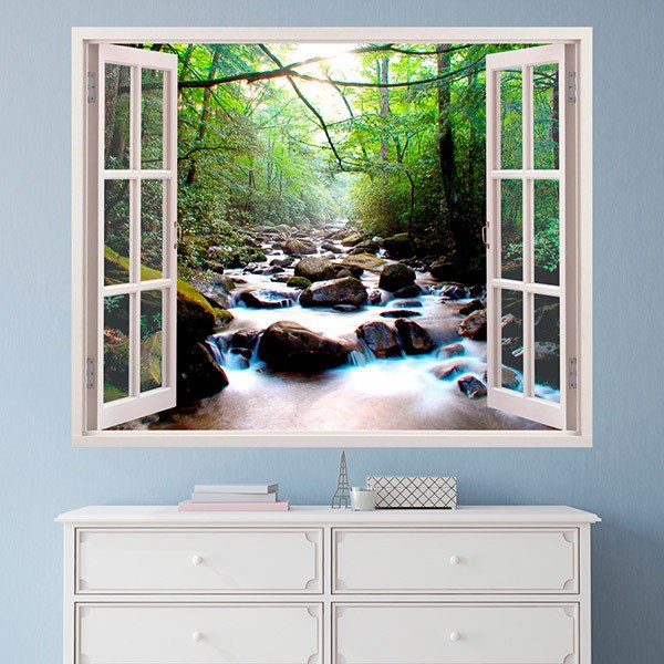 Wall Stickers: Stones in the river spring