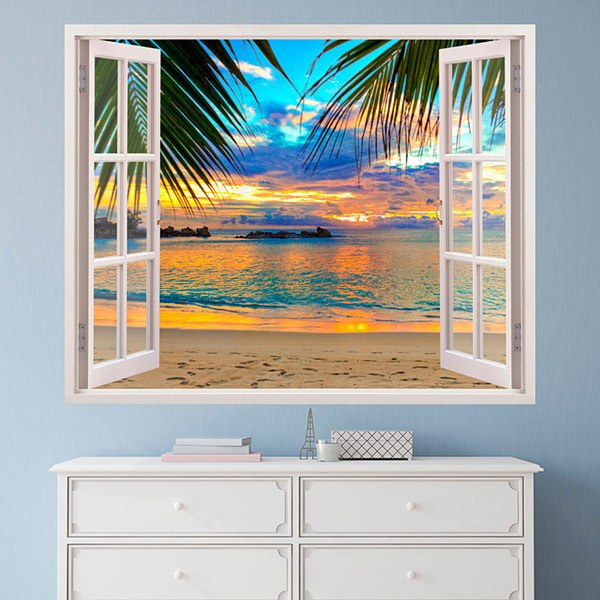 Wall Stickers: Sunset on the beach