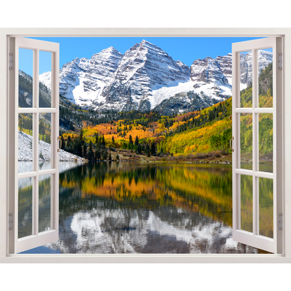 Wall Stickers: Mountain, valley and lake