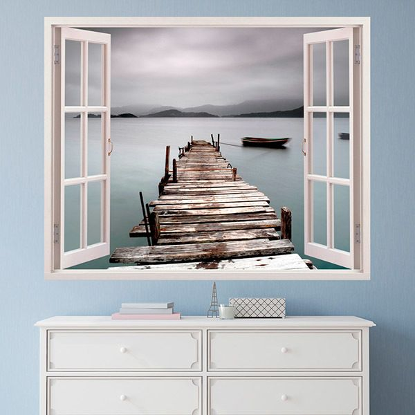 Wall Stickers: Old pier