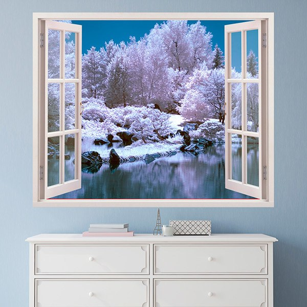 Wall Stickers: Snowy forest