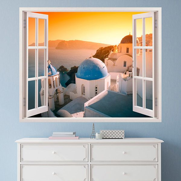 Wall Stickers: Sunset in Santorini