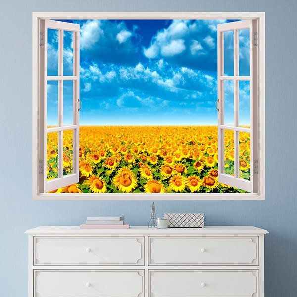 Wall Stickers: Field of sunflowers