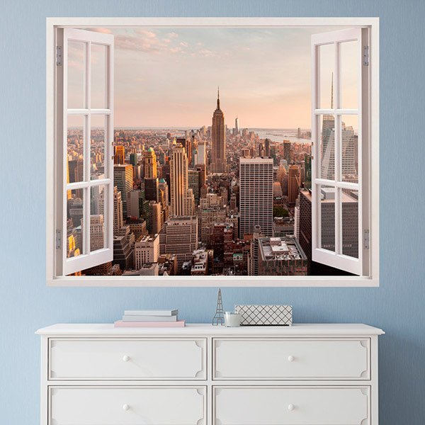 Wall Stickers: NYC business skyline