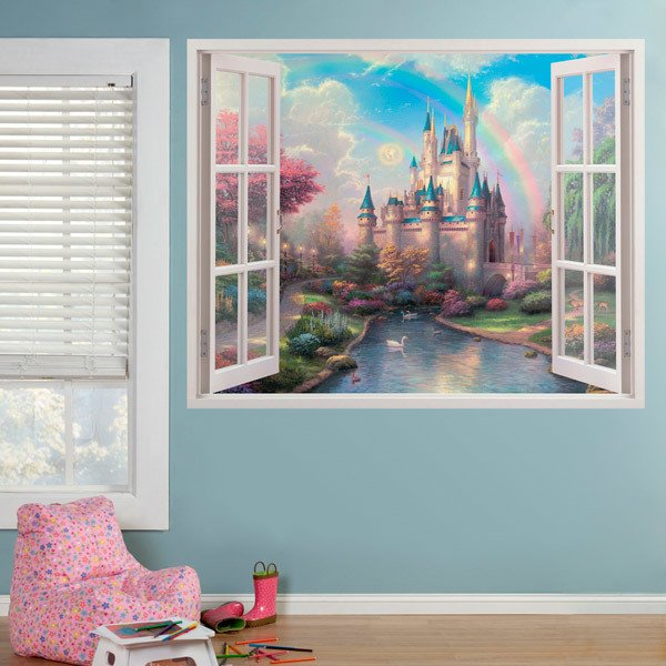 Stickers for Kids: Window Castle of the sleeping beauty